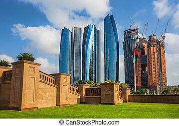 Skyscrapers in Abu Dhabi, UAE - ABU DHABI, UAE - NOVEMBER 5:...