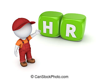 HR concept.Isolated on white background.3d rendered...