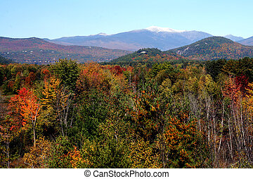 Mount Washington NH - First snow on Mt Washington, New...
