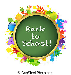Back To School, Isolated On White Background, Vector...