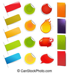 Big Sale Stickers And Labels, Isolated On White Background,...