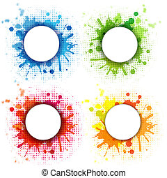 Abstract Bubble With Blobs Set - 4 Abstract Bubble With...