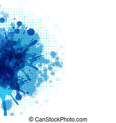 Abstract Background With Blue Blob, Vector Illustration