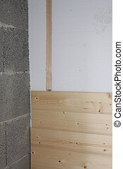 panelling - construction of a house with panelling