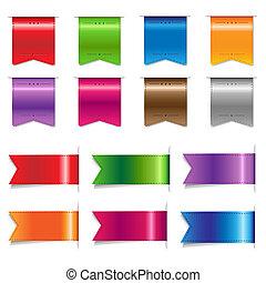 Big Sale Color Ribbons Set, Vector Illustration