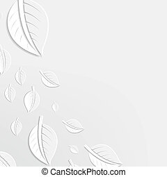 Abstract Leaves Poster, With Gradient Mesh, Vector...
