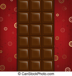 Abstract Background With Chocolate Bar With Gradient Mesh,...