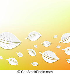 Abstract Leaves, With Gradient Mesh, Vector Illustration