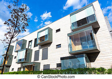 Modern residential architecture. - Contemporary eco friendly...