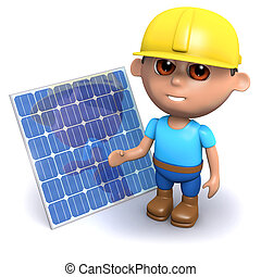 3d Builder with solar panel