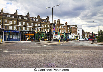Greenwich - View of the square of Greenwich in the near to...