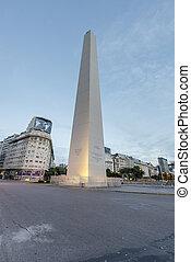 The Obelisk El Obelisco in Buenos Aires - BUENOS AIRES,...