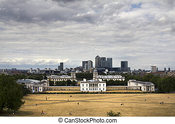 Greenwich - A panoramic shot taken from the Greenwich...