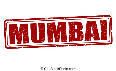 Mumbai stamp - Mumbai grunge rubber stamp on white, vector...