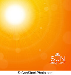 Sun Background, With Gradient Mesh, Vector Illustration