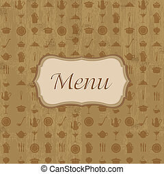 Wood Background With Menu - Vintage Wood Background With...