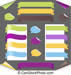 Set Ribbons And Labels, Vector Illustration