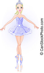 Ballerina - A vector illustration of  beautiful ballerina.