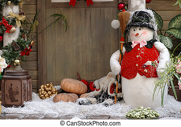Christmas decoration - Front door christmas decoration of a...