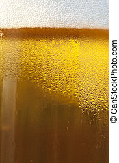 Fresh Golden Draft Beer Detail - A closeup of a draft beer...