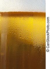 Fresh Golden Draft Beer Detail - A closeup of a draft beer...