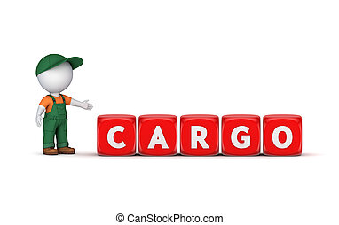 Word CARGOIsolated on white background3d rendered...
