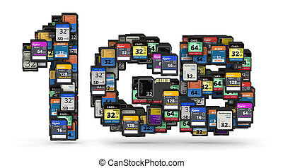 Memory cards capacity - 1GB capacity numbers from many...
