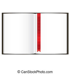 Empty Book, Isolated On White Background, Vector...