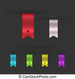 Dividers And Ribbons With Gradient Mesh, Vector Illustration