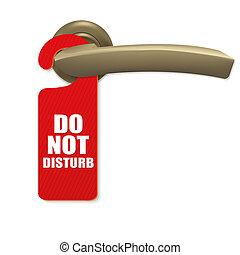 Door Handle - Do Not Disturb Sign With Copper Door Handle...