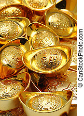 Gold ingot ornaments