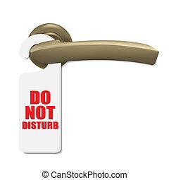 Do Not Disturb Sign With Door Handle