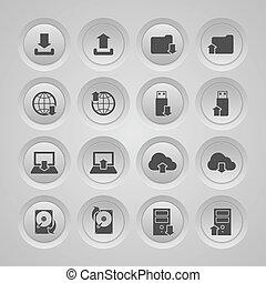 Upload Download Icons Set
