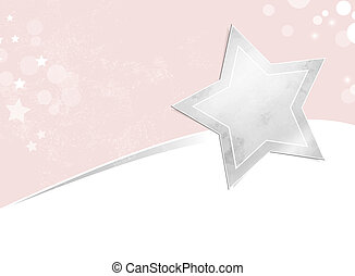 Silver star background - Soft abstract shooting star design
