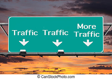 Freeway to More Traffic Road Sign - Freeway to more traffic...
