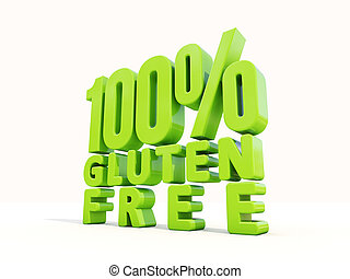 gluten, livre,  3D