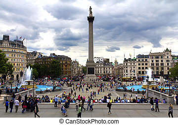 London, Trafalgar Square and the National Gallery