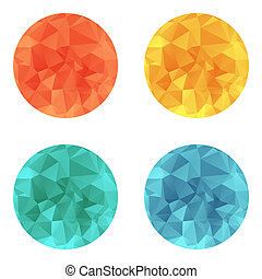 Vector design bright circle wrinkled elements