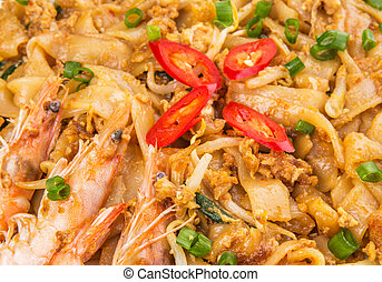 Char Kway Teow - A plate of fried char kway teow