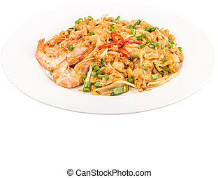 Fried Char Kway Teow - A plate of char kway teow