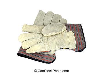 trabajando, guantes