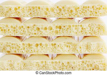porous chocolate - porous slices white porous chocolate...