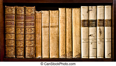 Ancient law books - Ancient books XVI and XVII century on a...