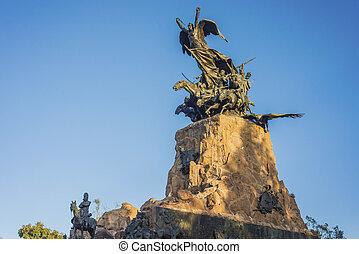 Cerro de la Gloria monument in Mendoza, Argentina - Monument...