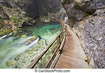 River canyon - Beautiful river canyon Vintgar in Slovenia