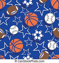 Sports balls seamless pattern .