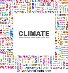 CLIMATE Word cloud concept illustration Wordcloud collage
