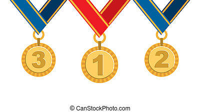 Champion design over white background, vector illustration