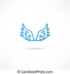 Vector illustration of angel icon.