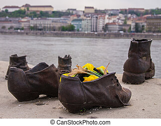 The Shoes Budapest - The Shoes on the Danube Promenade is a...
